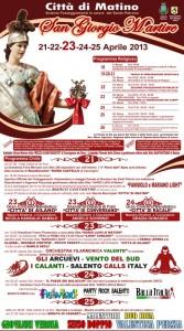 clicca sulla foto per leggere il programma festivo per San Giorgio Martire a Matino